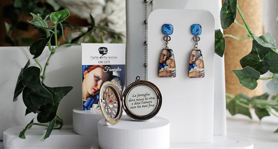 Orecchini amuleto famiglia Resina Bella bri. © Copyright Bella bri. Tutti i diritti sono riservati.